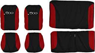Lupex Shop Seat Covers, Black/Red