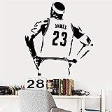 Baloncesto Estrella Lakers Lebron James Lbj Etiqueta De La Pared Para La Decoración De La Habitación De Los Niños De Vinilo Auto Impermeable Decoración Del Arte Mural58 * 62 Cm