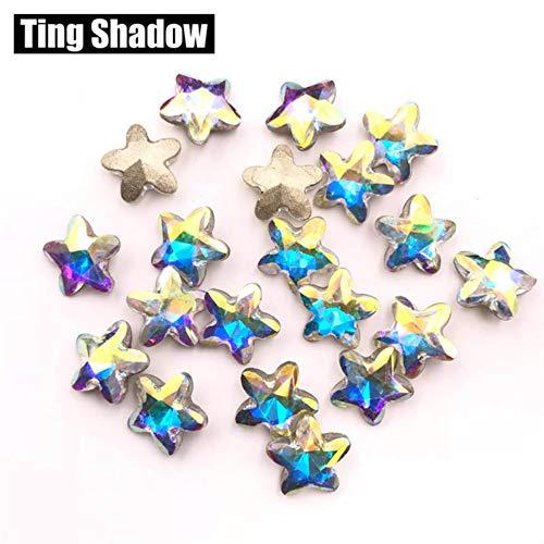 MFKW 8 mm 72 stuks 3D strass-stenen voor nagels, sterren, punktoback lijm voor kristal op edelstenen voor nagels van kristallen accessoires voor nageldecoratie met diamanten
