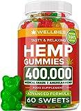 Premium Hemp Gummies - Natural Hemp - Made in USA - King Size 400,000 - Boost Memory Function, Improved Sleep, Support Good Mood - Fast Results - Vitamins B, E, Omega 3, 6, 9