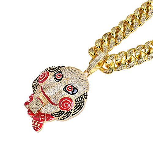 LSXX kettingzaag Cry hanger Saw hanger Cyber Punk ketting glas verstelbaar goud