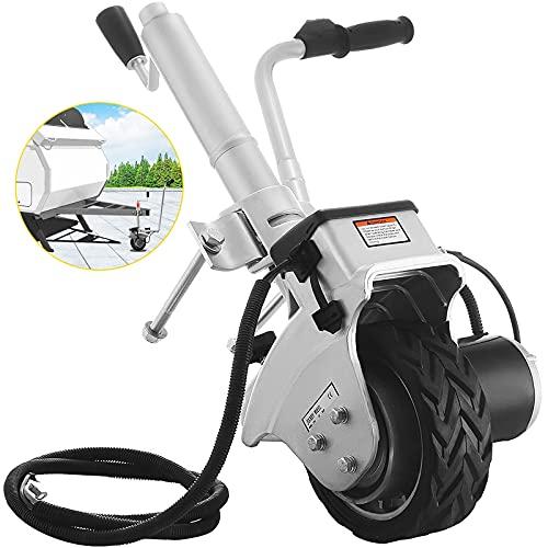 SucceBuy Roue Jockey Motorisée 12V/350W, Roue Jockey Electrique (capacité de traction 2270kg), Roue Jockey Remorque pour Déplacer Remorques et Caravanes