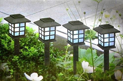 Lámpara solar para jardín, lámpara de suelo, lámpara decorativa con estaca LED