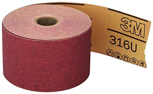 3M Red Abrasive Stikit Sheet Roll, 01687, P120, 2-3/4 in x 25 yd