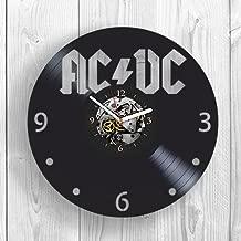 AC DC, Band, Rock Music, Vinyl Clock, Wall Decor, Back in Black, Highway to Hell, Gift Ideas For Fans, Bon Scott, Wall Art, Home Decor, Vintage Vinyl Record, Handmade Gift, Modern Art
