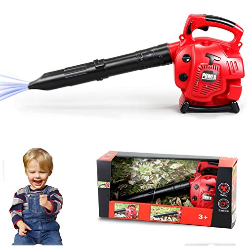 Leaf Blower Toy Tool Play Set Outside Construction Work Shop Toy Tool ,Realistic Sounds and Wind,Pretend Play Series Outdoor Preschool Gardening Lawn Toy Gift for Toddler Baby Children Boys and Girls
