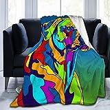 Manta de Forro Polar Muy Suave con diseño de Perro rodesio Ridgeback Multicolor para sofá, Cama, sofá, Negro, 50' x40