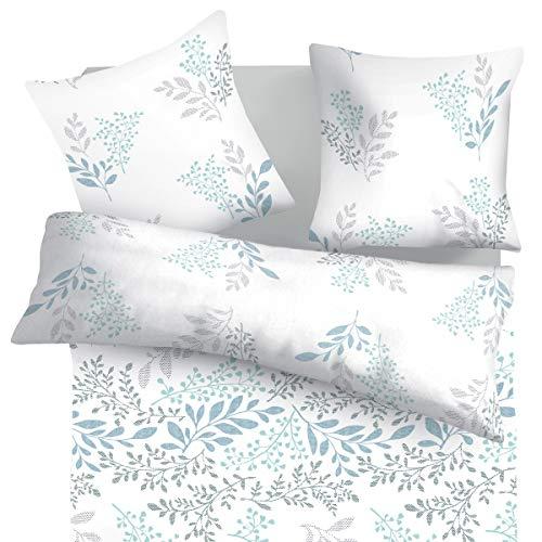 SoulBedroom Victoria Bettbezug 200x200 cm und Kissenbezüge 80x80 cm 100prozent Baumwolle mit versteckten Reißverschluss