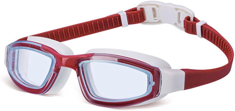 GYZ Schwimmbrille HD Anti-Fog Wasserdichte Passform Herren-Damen-Vollschutzbrille (Farbe   C)