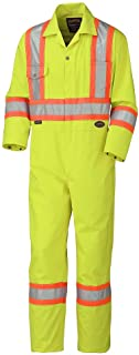 48 V202151T-48 Orange Industrial Wash Pioneer Easy Boot Access /& Action Back CSA High Visibility Work Coverall Tall Fit