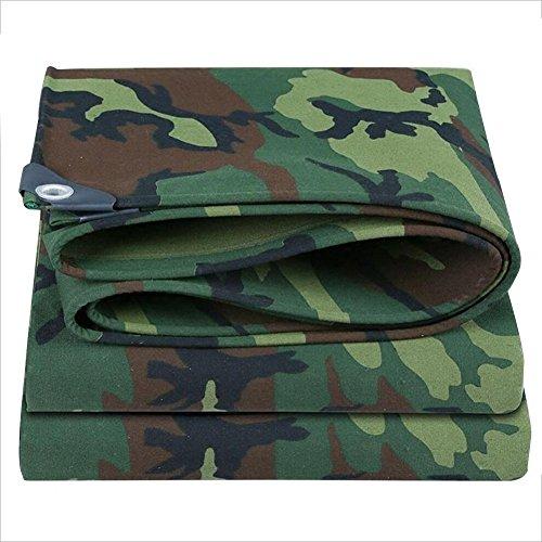 BIXIANGJI Regenschutztuch wasserdicht Camouflage Canvas Plane Carport Plane feuchtigkeitsbeständiges Ladungsstaubtuch reißfest und verschleißfest (Color : A, Größe : 4x6M)