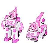変形おもちゃ, スーパーフライングマンロボットの設定大変形メカLedi Xiaoai Duoduoパック保安官少年少女のおもちゃ (Color : D)