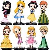 8 Unids / Set 15 Cm Frozen 2 Q Posket Anna Elsa Princesa PVC Figura De Acción Anime Mini Colección E...