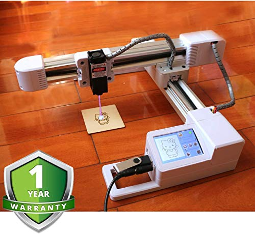 Graveermachine, lasergraveermachine Lasergraveur Printer Offline 3000 mw Upgrade-versie CNC Pro DIY-logo Lasergraveur