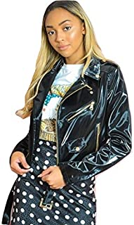 Momo&Ayat Fashions Ladies Vinyl Patent Biker Jacket AUS Size 8-14