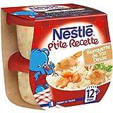 Nestlé Bébé P'Tite Recette Blanquette de Riz Dinde Plat Complet Dès 12+ Mois 2 x 200 g