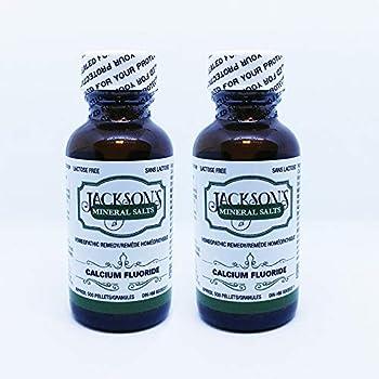 Jackson s Calc fluor 6X - Vegan Lactose-free Schuessler Cell  Tissue  Salt #1 - Homeopathic Remedy  2 bottles