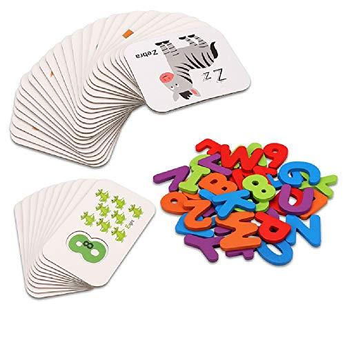 Coche para niños RC For los niños, iluminismo preescolar subsidios educativos Número Jigsaw Puzzle carta Matching Game Building Block juguetes educativos de las letras Pa