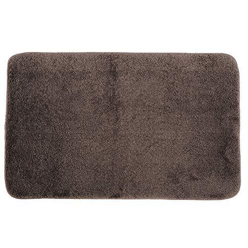 Duurzame verdikte badkamer Vloermat Zachte comfortabele slaapkamer Woonkamer Deur Antislipvloer Tapijtkussen Absorberend bruin water(50 * 80CM)