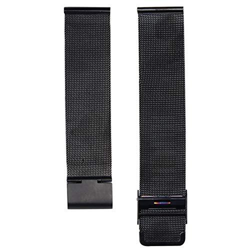 DALIANMAO Straps de Acero inoxidable12mm 14mm 16mm 18 mm 20 mm 22 mm 24 mm 24 mm Metal de Acero Inoxidable de Acero Inoxidable Universal Pulsera de Correa (Band Color : Black, Band Width : 20mm)