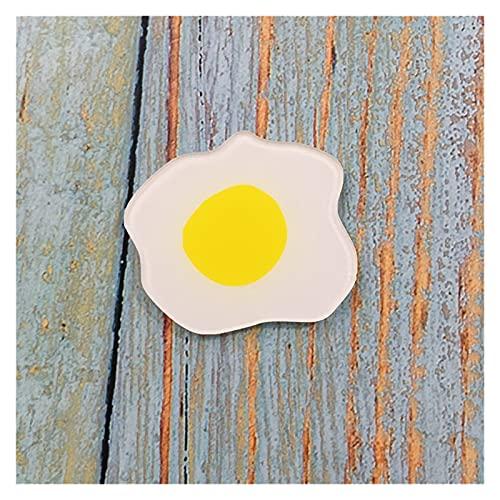 TJYEDUW Imán creativo de la personalidad del imán de la comida del huevo escalfado lindo del refrigerador (variedad: huevo escalfado)