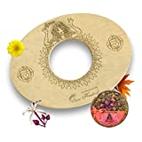 Sama Handcraft Yoni Seat and Herbs (4oz) in a Luxury package-Devi steam wooden SEAT with engraved pictures of Goddess Yoga and Muladhara - COMBO package (Yoni seat and Herbs, Natural)