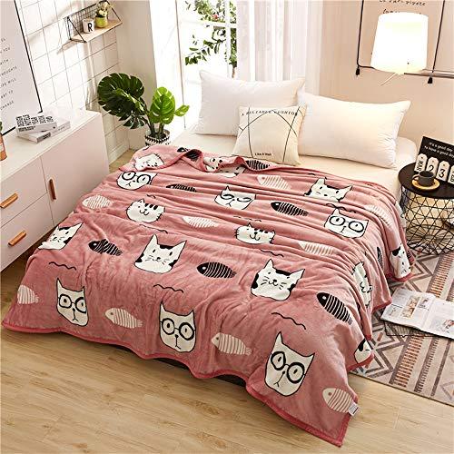 Kuscheldecke XL XXL Flauschige Wohndecke - Interessant Tier Stil Warme Weiche Fleecedecke Tagesdecke für Kinder & Jugendliche (Kätzchen, 150 x 200 cm)