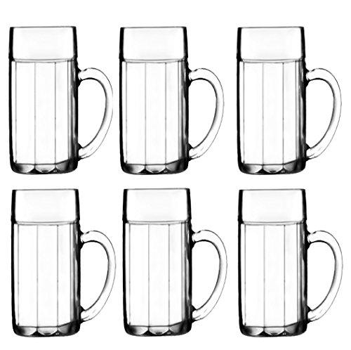 Stölzle Oberglas Bayreuth Bierkrug Bierglas 0,5 L, Gläser im 6er Set, Biermaßkrug aus Stoßfestem - und Bruchsicherem Glas, Kugelmaßkrug Traditionell Bayrisch, Maßkrug gerippt