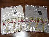 TMT ティーエムティー 限定 Tシャツ TRIPLE 777 STARS BIGHOLIDAY YOURS BIG3 ビックホリデー RHC ブラック ホワイト 黒 白 S サイズ