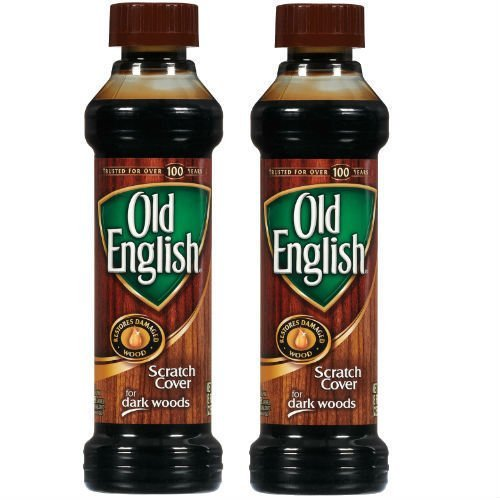 Set of Two (2) Old English 8 Ounce Dark Wood Furniture Polish And Scratch Cover