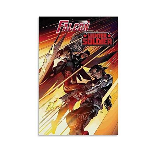 DRAGON VINES Póster de cómics, el halcón y el soldado de invierno, Sam Wilson Bucky Barnes, lienzo de 60 x 90 cm