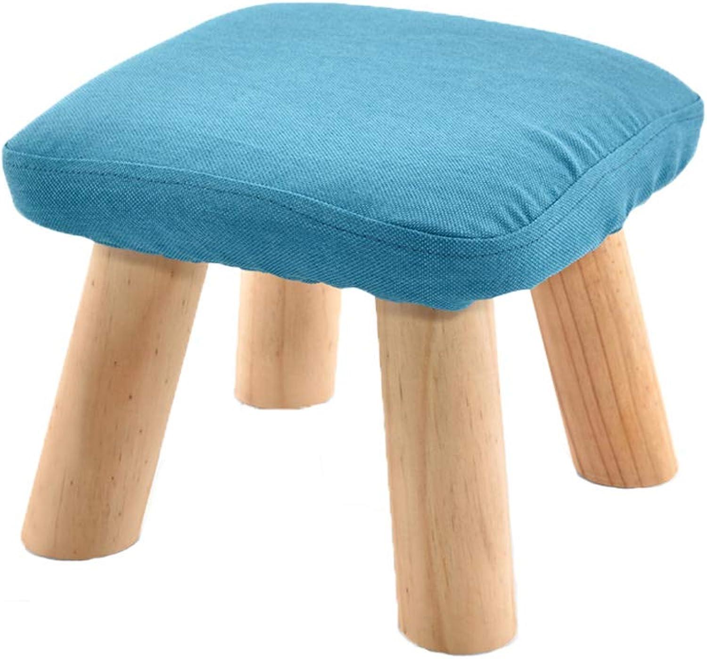 HLJ Simple Cloth Art Mushroom Stool Comfortable Solid Wood Sofa Stool Fashion Creative Change shoes Bench