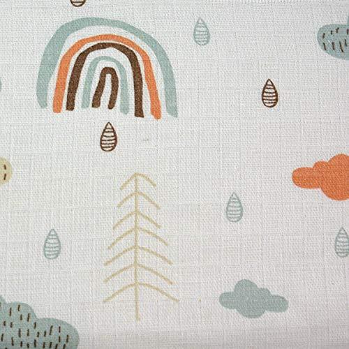 Tela de muselina a partir de 0,50 m, tela de muselina de 160 cm de ancho, algodón (nube verde)