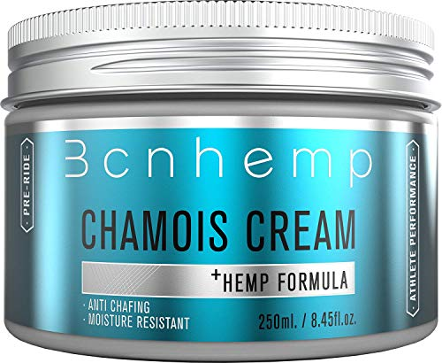 BCNHEMP Crema Badana Ciclismo 250ml - Antifriccion Antirozaduras Apta para Contacto con Zona íntima genital Femenina componentes Naturales con Aceite de cañamo Chamois Cream cremas sin vaselina