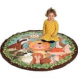 Dream Big - Baby Krabbeldecke - 3in1 Spieldecke, Kinderteppich und Aufbewahrungsbeutel für Spielzeug - KINDERZIMMER Deko und Aufräumsack Baumwolle 150 cm groß