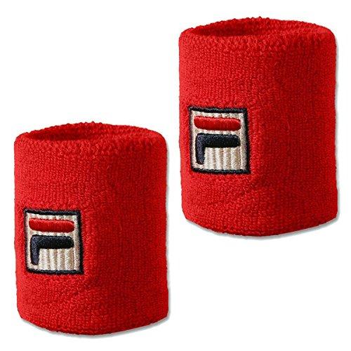 Fila, Osten Schweißband 2er Pack-Rot, Weiß, nosize, Bande tergisudore. Unisex-Adulto, Colore: Rosso, Taglia Unica