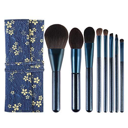7 Pcs Maquillage Pinceau Ensemble Professionnel Premium Synthétique Fondation Brosse Pinceau Pour Les Yeux Mélange Visage Poudre Blush Yeux Cosmétiques Maquillage Brosse Kits (Avec sac cosmétique)