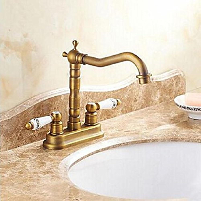 Robinet de lavabo style antique finition Ti-PVD et ceramique