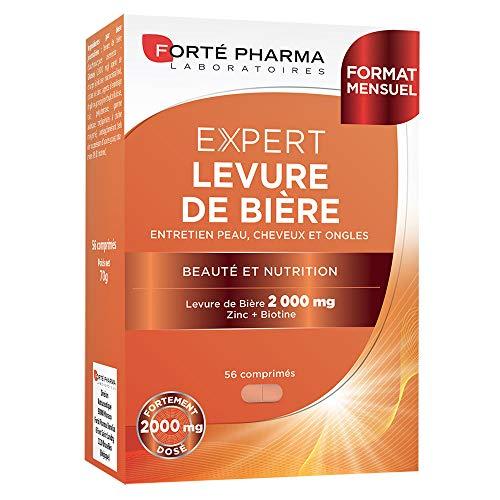 Forté Pharma Expert Levure de Bière | Entretien Cheveux/Ongles | 56 Comprimés pour 1 Mois