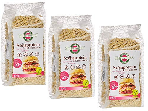Sojaprotein Granulat | extrudiertes Soja-Produkt | vegan | 100 % pflanzlich | ohne Gentechnik | 3erPack (3 x 100 g)