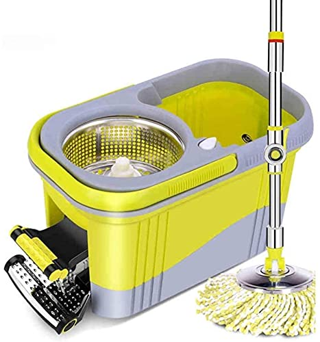 ZXCVBNN MOP, 360 Cabezal Giratorio Microfibra Spinning Suelo MOP Microfibra Mop and Bucket Set