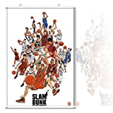 Slam Dunk 15 - Slam Dunk Wall Scroll Poster,Slam Dunk Hanging Poster,Screens Wall Poster,Japanese Anime Scroll Paintings Cartoon,Size 24 X 36 or 16×24 Inches With frame (24×36 in)