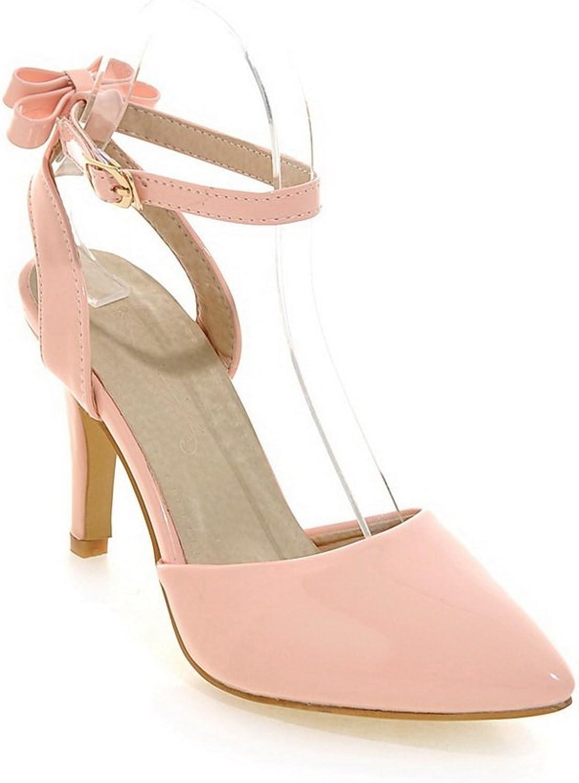 BalaMasa Womens Sandals High-Heel Huarache Urethane Sandals ASL04743