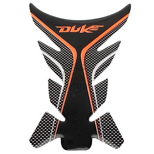 MUJUN Reserva For KTM Duke 125 200 390 690 990 1290 Etiqueta Motocicleta Tanque de Gas Protector del cojín Pegatinas Adhesivos Moto Racing Universal INDEFINIDO (Color : Black Orange)
