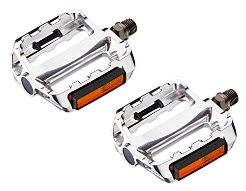VP Components Vp-469 Pédales 9/40,6 cm pour Fixie, Fixed Gear, vélo de Trekking, Urban, Vp-469, Silver