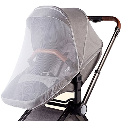 Mosquito Net for Stroller, Car Seat Screen Cover, Adorife Stretchable Insect Bug Netting for Baby Carseat, Carriers, Cradles, Bassinet (White)