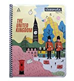 The cover design of the notebook is subject to change, it depends on stock availability Classmate notebook-single line, 200 pages, spiral binding, soft cover, 240mm x 180mm Package contains: Pack of 4 Notebooks