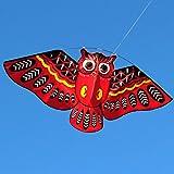 KERDEJAR, Nuevo búho de Dibujos Animados, Cometas voladoras para niños, Adultos, diversión al Aire Libre, Juguete Deportivo