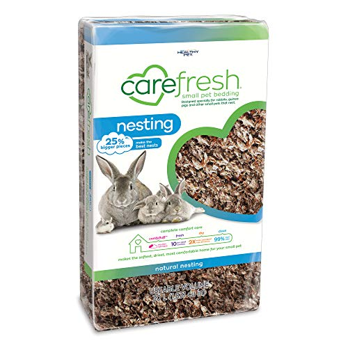 Carefresh 99 Percent Dust-Free Natural Paper Nesting Small Pet Bedding with Odor Control, 30 L