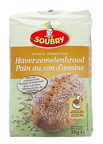SOUBRY Brotbackmischung Haferkleie Brot, 4er VorteilsPack (4 x 2kg)